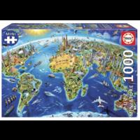 thumb-Miniatuur puzzel - Wereldsymbolen - 1000 stukjes-1