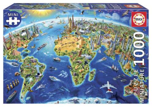 Educa Miniature puzzle - World symbols - 1000 pieces