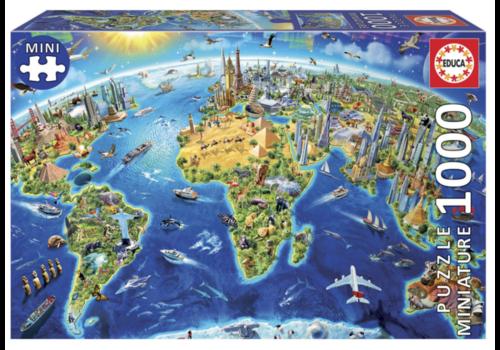 Educa Puzzle miniature - Symboles du monde - 1000 pièces