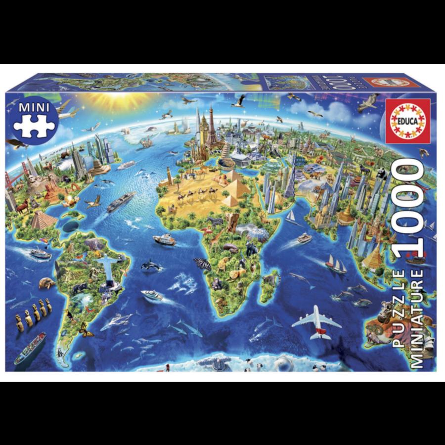 Miniatuur puzzel - Wereldsymbolen - 1000 stukjes-1