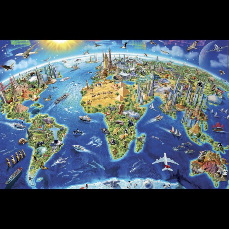 Miniatuur puzzel - Wereldsymbolen - 1000 stukjes-2