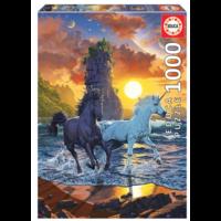 thumb-Licornes sur la plage - puzzle de 1000 pièces-1