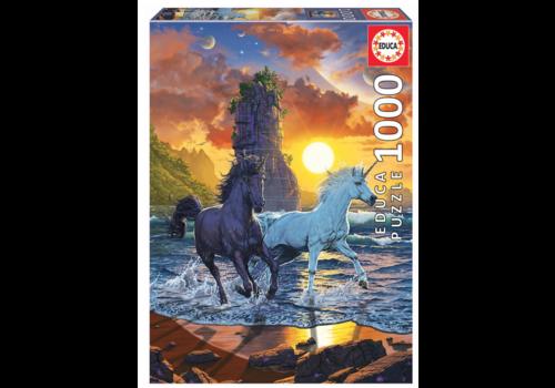 Educa Licornes sur la plage - 1000 pièces