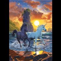 thumb-Licornes sur la plage - puzzle de 1000 pièces-2