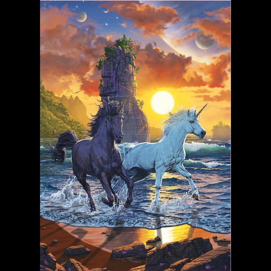 Licornes sur la plage - puzzle de 1000 pièces-2