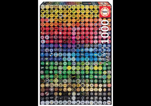 Educa Collage of crown caps - 1000 pieces