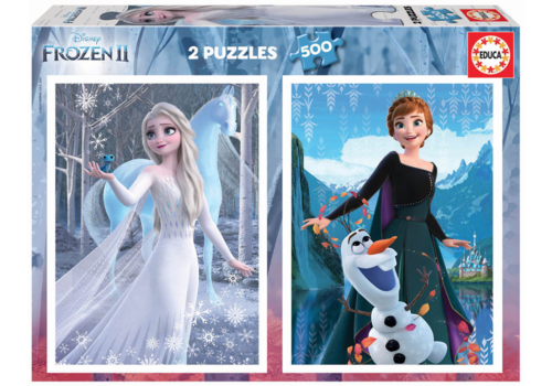 Educa Frozen - 2 x 500 stukjes puzzel