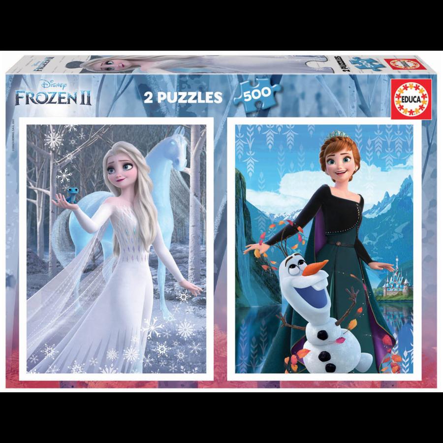 Frozen - 2 x 500 stukjes legpuzzel-1