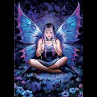 thumb-La dame aux papillons - Anne Stokes - puzzle de 500 pièces-2