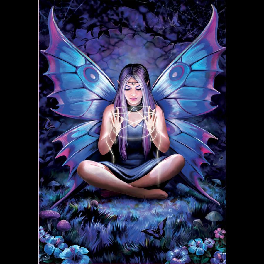 La dame aux papillons - Anne Stokes - puzzle de 500 pièces-2