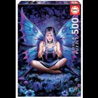 thumb-La dame aux papillons - Anne Stokes - puzzle de 500 pièces-1