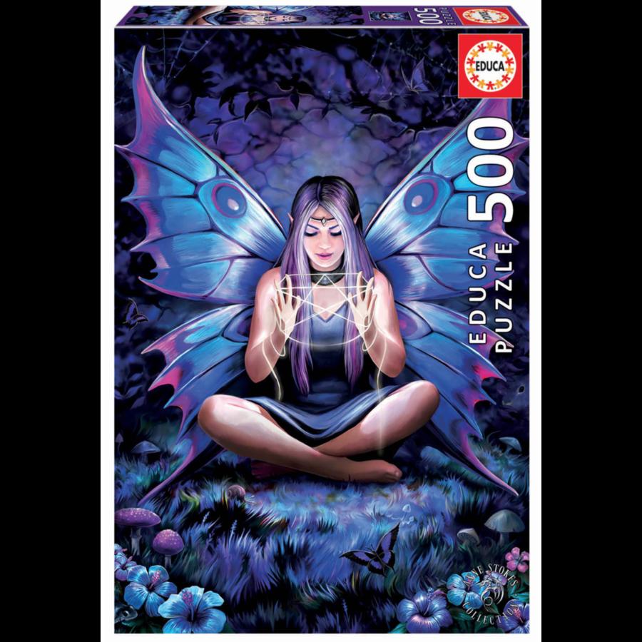 La dame aux papillons - Anne Stokes - puzzle de 500 pièces-1