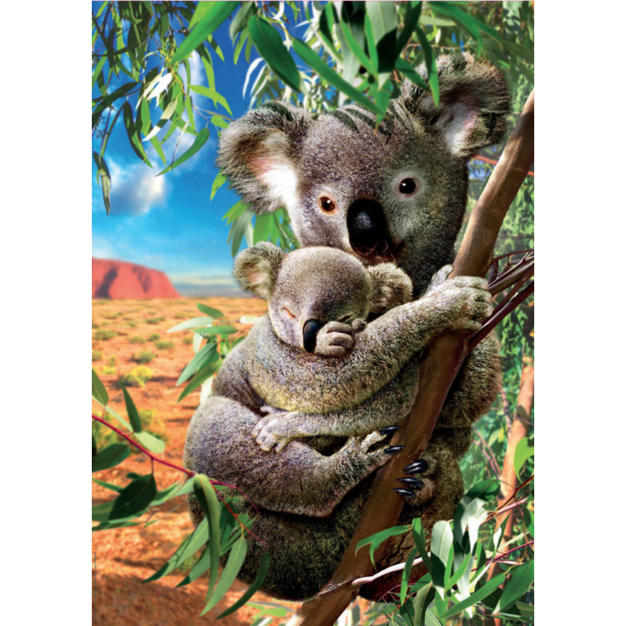 De Koala en zijn kleintje  - legpuzzel van 500 stukjes-1