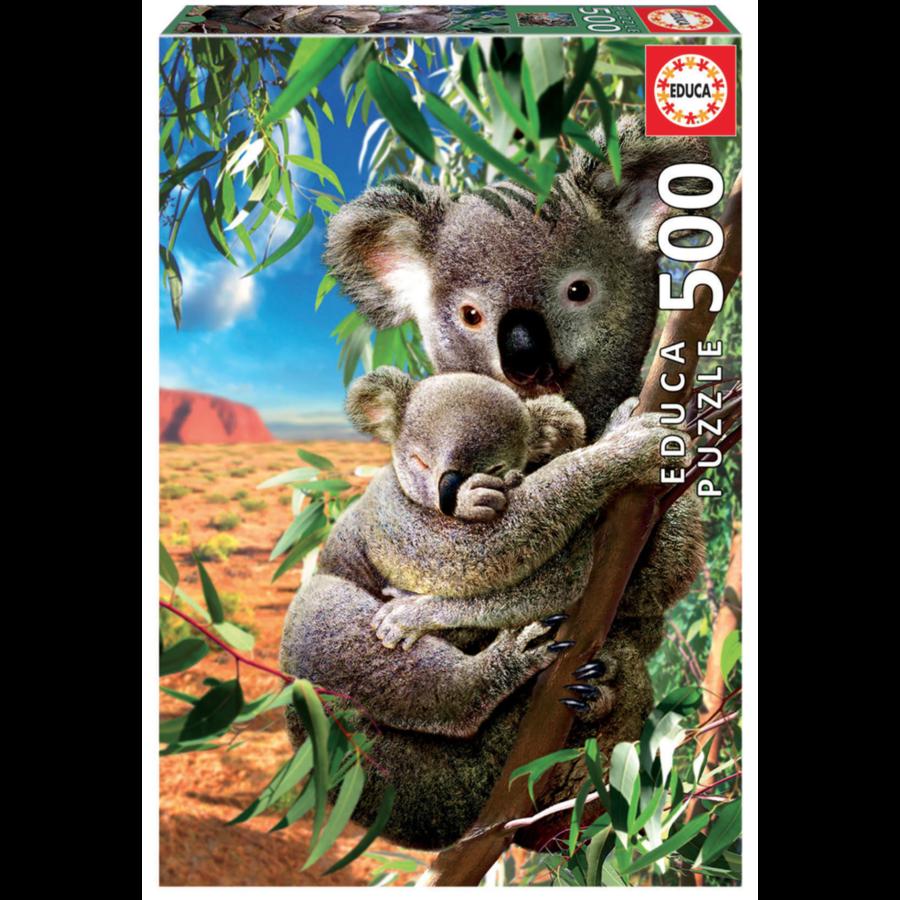 De Koala en zijn kleintje  - legpuzzel van 500 stukjes-2