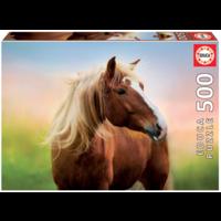 Cheval au lever du soleil - puzzle de 500 pièces