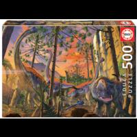 Nieuwsgierige Dino - legpuzzel van 500 stukjes