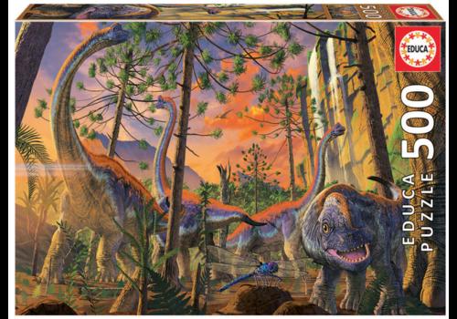 Educa Curious Dino - 500 pieces