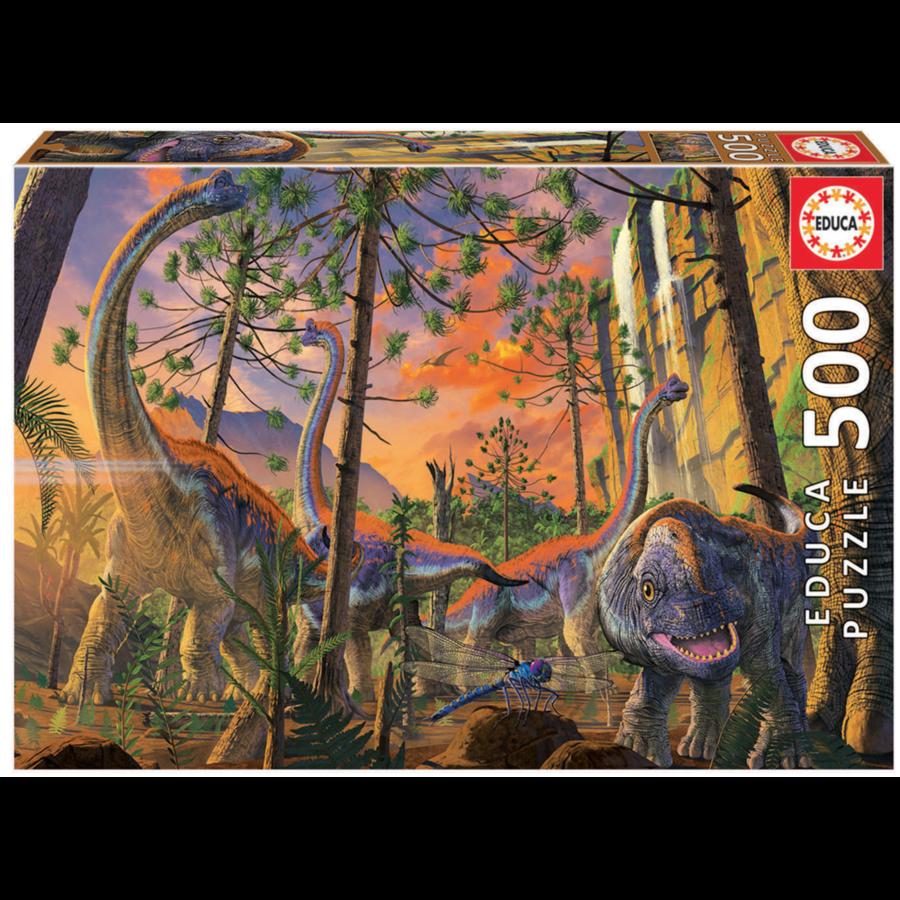 Nieuwsgierige Dino - legpuzzel van 500 stukjes-1