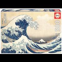 De Grote Golf van Kanagawa - legpuzzel van 500 stukjes