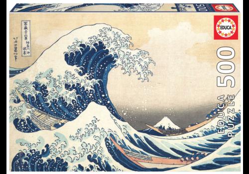 Educa De Grote Golf van Kanagawa - 500 stukjes