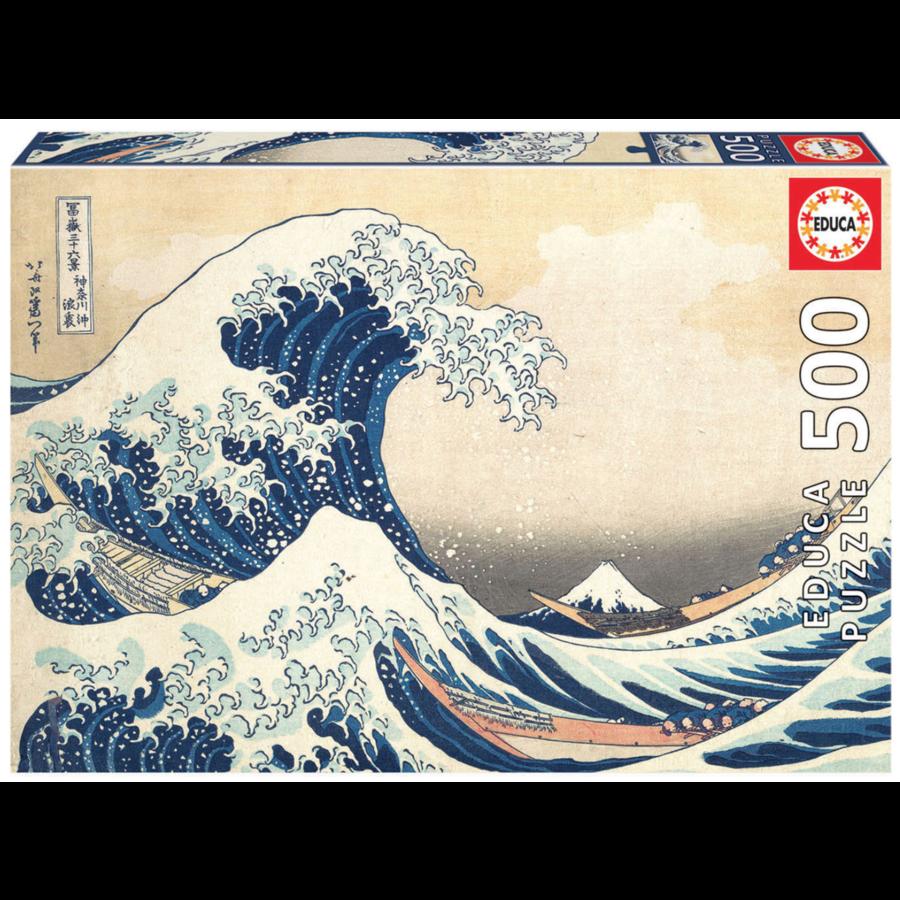 De Grote Golf van Kanagawa - legpuzzel van 500 stukjes-1
