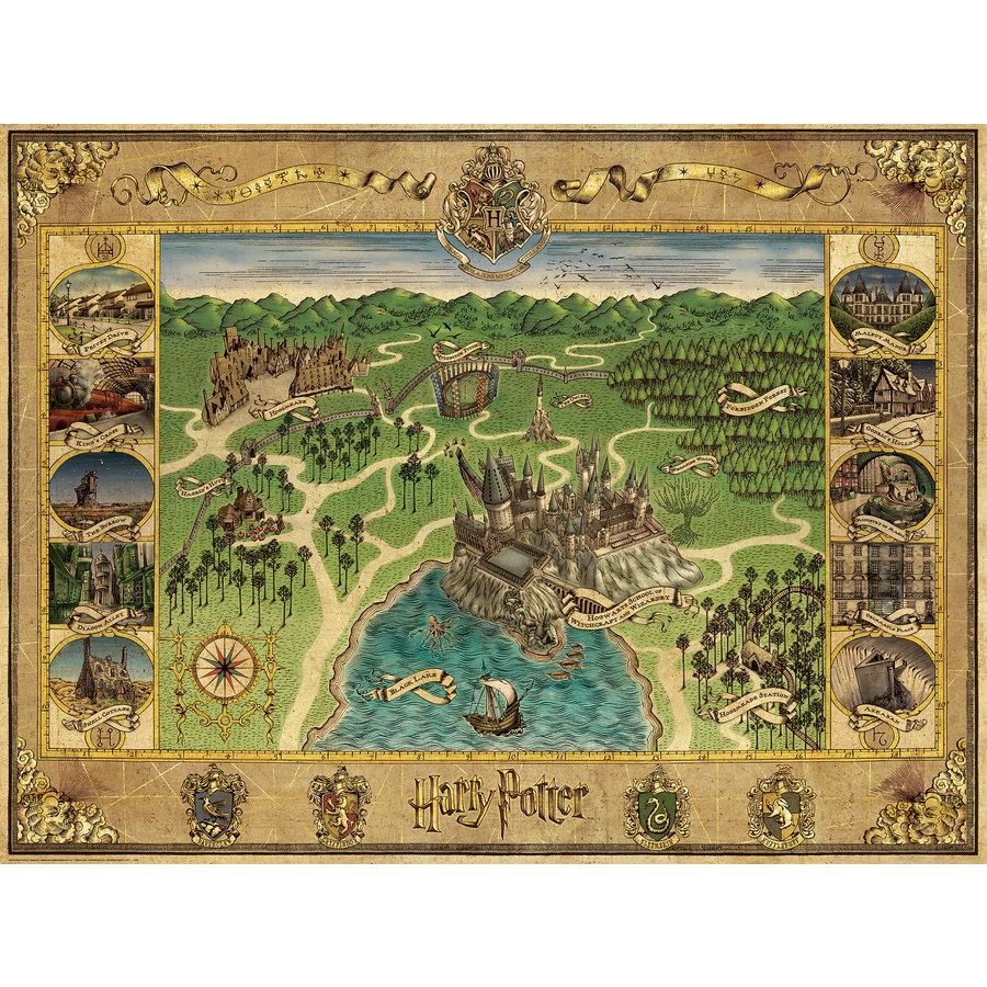 Harry Potter - Hogwarts Map - puzzle de 1500 pièces-2