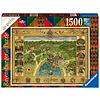 Ravensburger Harry Potter - Hogwarts Map - puzzel van 1500 stukjes