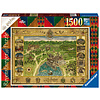 Ravensburger Harry Potter - Hogwarts Map - puzzle de 1500 pièces