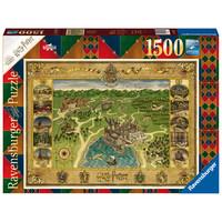 thumb-Harry Potter - Hogwarts Map - puzzel van 1500 stukjes-1