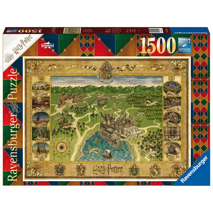 Harry Potter - Hogwarts Map - puzzle de 1500 pièces-1