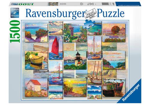 Ravensburger Collage van de kust - 1500 stukjes