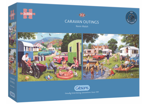 Gibsons Caravan outings - 2 puzzles of 500 pieces