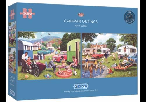 Gibsons Caravan uitstapjes - 2 puzzels van 500 stuks
