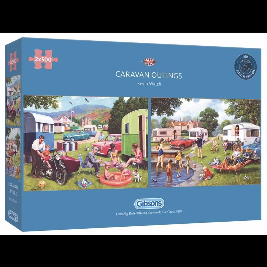 Sorties en caravane - 2 puzzles de 500 pièces-1