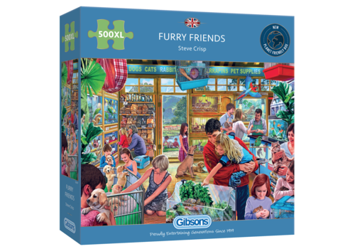 Gibsons Furry Friends - 500 XL pieces