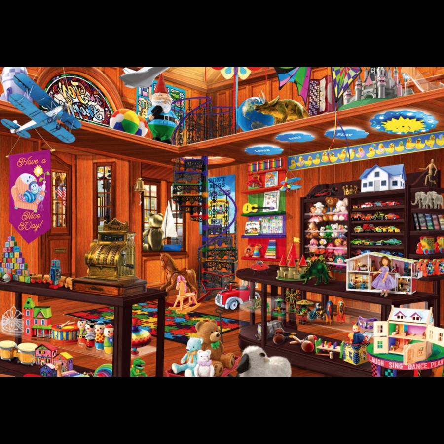 De verborgen speelgoedwinkel - puzzel van 1000 stukjes-2