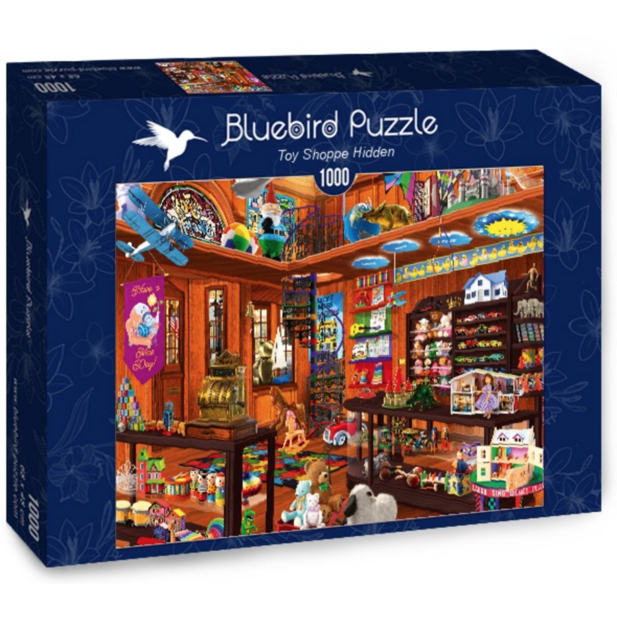De verborgen speelgoedwinkel - puzzel van 1000 stukjes-1