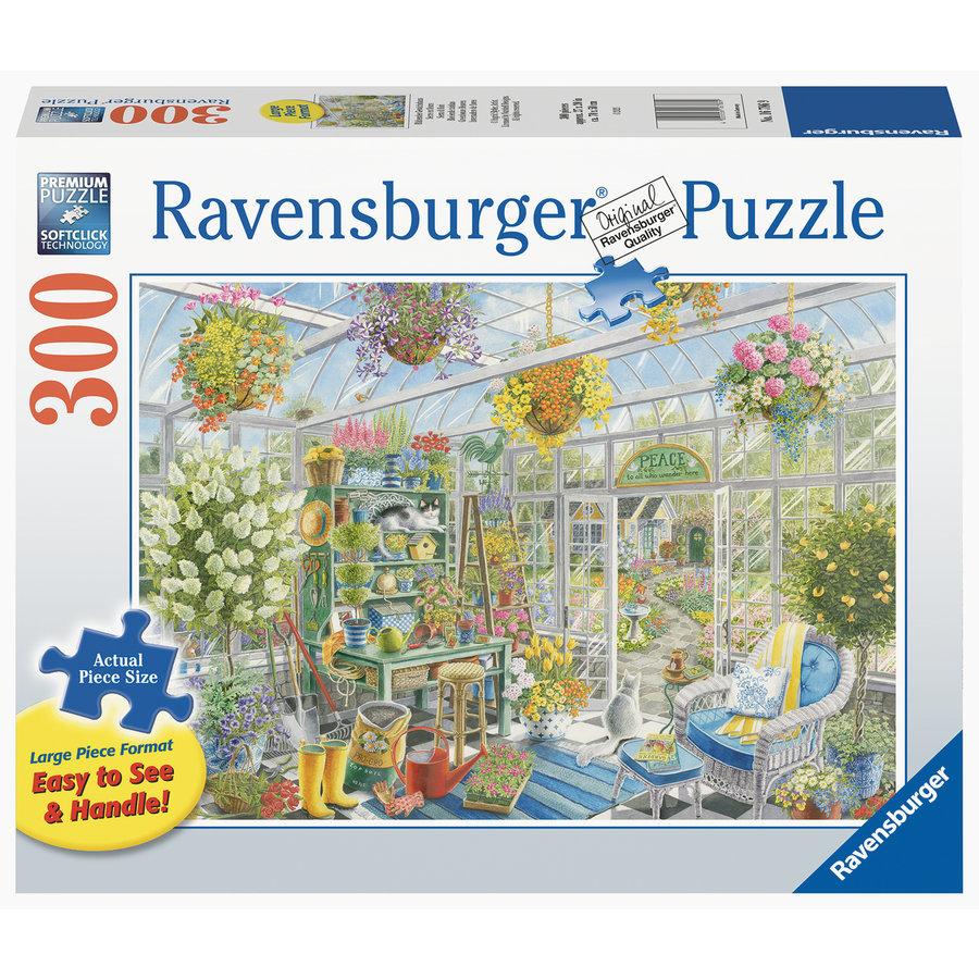 Serre paradijs - puzzel van 300 XXL stukjes-1