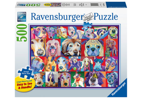 Ravensburger Hello Doggie - 500 XL pieces