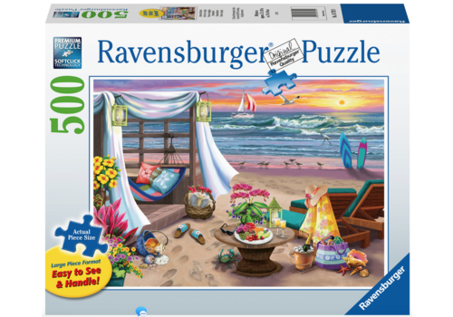 Ravensburger Avond op het strand - 500 XL stukjes