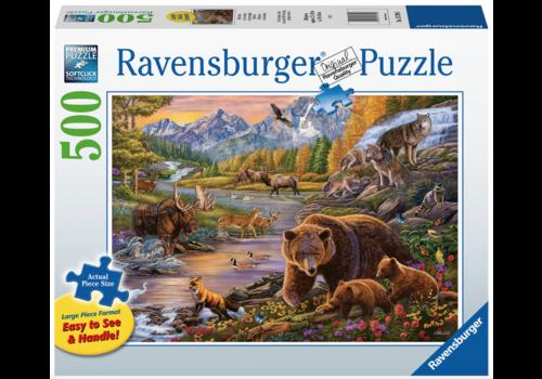 Ravensburger La vie sauvage - 500 pièces XL