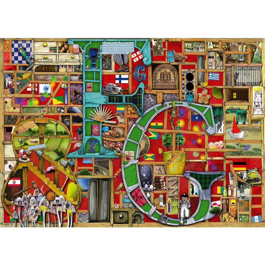 "Adembenemend Alfabet ""F&G""- Colin Thompson - puzzel 1000 stukjes-2"