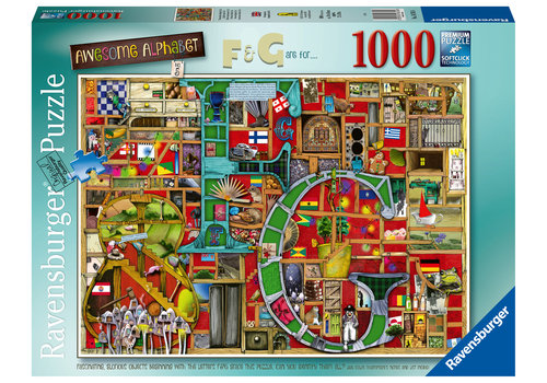 "Ravensburger Adembenemend Alfabet ""F&G"" - 1000 stukjes"
