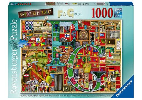 "Ravensburger Alphabet Impressionnant ""F&G"" - 1000 pièces"