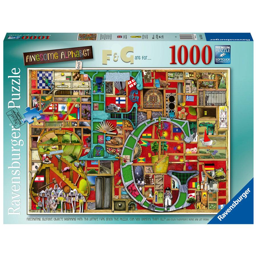 "Adembenemend Alfabet ""F&G""- Colin Thompson - puzzel 1000 stukjes-1"
