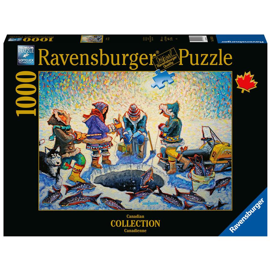 Pêche sous la glace - puzzle de 1000 pièces-1
