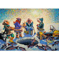 thumb-Pêche sous la glace - puzzle de 1000 pièces-2