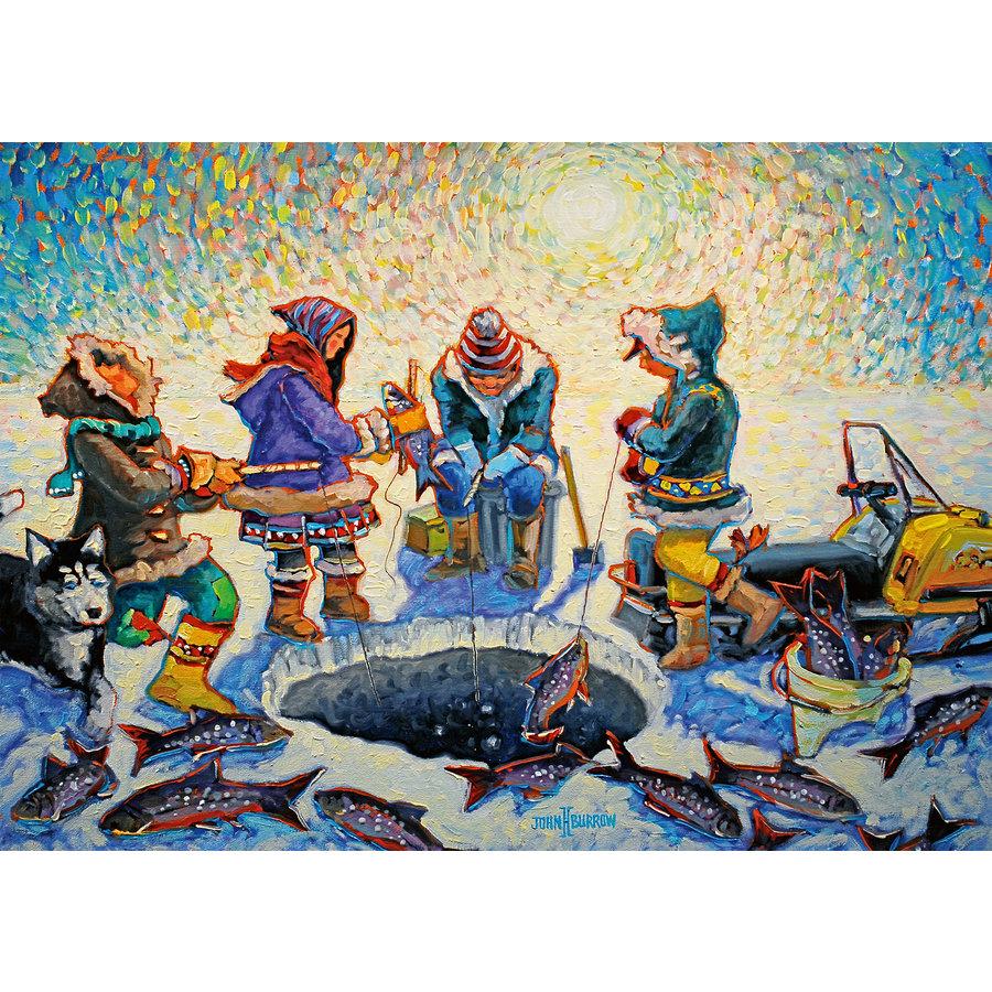 Pêche sous la glace - puzzle de 1000 pièces-2