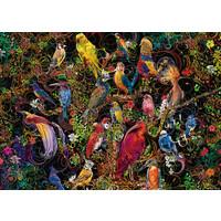 thumb-Kunstige vogels - puzzel van  1000 stukjes-1