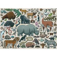 thumb-Wilde Dieren - puzzel van  1000 stukjes-1